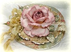 Flower tutorial - this one is GORGEOUS! The designer says it's very durable too