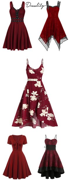 Free Shipping on orders over $45. Enjoy 20% off with code DLPIN6: $8+ off $40+, $12+ off $60+, $16+ off $80+… Pinterest exclusive discount. #dresslily #vintagedress #red
