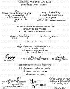 Inside & Out: Birthday Stamp Set