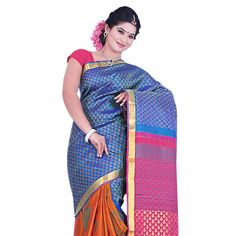 Buy Sudarshan Silks Multi Silk Saree by Sudarshan Silks, on Paytm, Price: Rs.8640?utm_medium=pintrest
