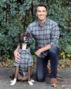 The softest, coziest, Autumn-inspired flannel shirt for you + your pup. #matching #twinning