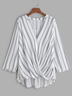 Shop White Vintage Print V Neck Twisted Drape Front Blouse online. SheIn offers White Vintage Print V Neck Twisted Drape Front Blouse & more to fit your fashionable needs.
