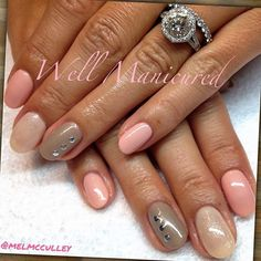 #wellmanicured #nails #nailart #nailedit #nailswag #nailartist #manhattanbeach #hermosabeach #southbay #diamondring #ovalnails #soft #pretty #gelish #gelpolish #nailpolish #sparkle #studs #glitter #feminine #beauty #gel #nails2inspire #nailpicoftheday #nailsofinstagram #love #trends #Padgram