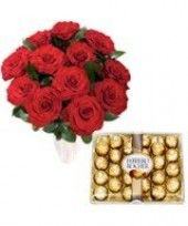 Gift this wonderful combo Special Delight from FlowerzNcakez and get ready to see the spark of love in her eyes. Buy Flowers Online, Online Flower Shop, Romantic Valentines Day Ideas, Romantic Ideas, Ferrero Rocher Box, Wedding Anniversary Gifts, Fresh Flowers, Valentine Day Gifts, Red Roses
