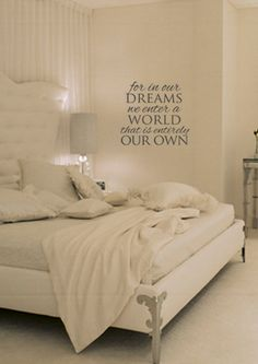 In Our Dreams Vinyl Wall Art by designstudiosigns on Etsy, $33.50