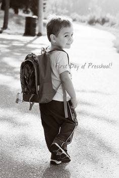 I'm going to cry...totally going to take a picture like this of Jake's first day of preschool
