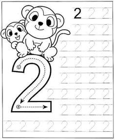 New System-Suitable Numbers Line Study - Preschool Children Akctivitiys Preschool Writing, Numbers Preschool, Preschool Learning Activities, Printable Preschool Worksheets, Kindergarten Math Worksheets, Kids Worksheets, Math For Kids, Kids Education, Alaia