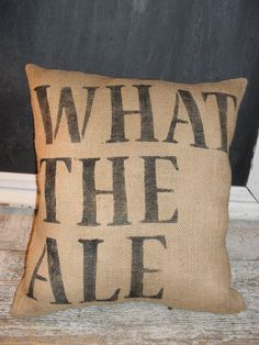 Great gift for the beer lover's in your life!  Beer Lover's Pillow by PillowTalkandChalk on Etsy, $25.00