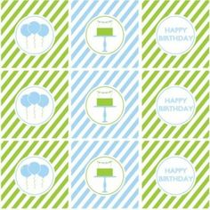 Free blue and green printables