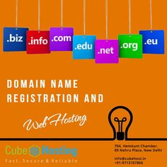 Domain Name Registration and Web Hosting are very necessary to put your website on the fastest channel of the internet with specific identity.