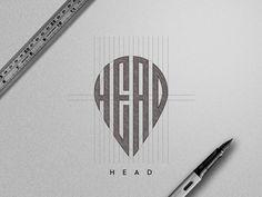 Head Logo Sketch by Mursalin Hossain Typo Logo Design, Branding Design, Graphic Design Lessons, Logo Sketches, Affinity Designer, Badge Design, Art Graphique, Logo Concept, Sketch Design