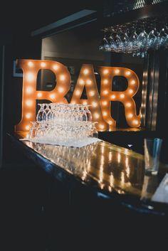 Wedding reception bar idea; Featured photographer: Rebecca Amber Photography