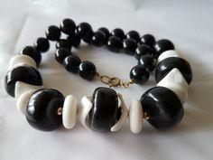 Plastic Jewelry, Costume Jewelry, Black And White, Bracelets, Men, Vintage, Collection, Fashion, Black White