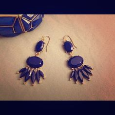 Beautiful Deep Blue Boho Earings 💙 ✨Get the boho look!✨ Beautiful earrings purchased from Jewlie's Boutique in Lafayette, LA // High quality, excellent condition // only worn on 2 special occasions! // earrings carefully sanitized // Questions and offers welcome // Bundle & save! **bracelet not available** thanks for shopping my closet! ☺️ Boutique Jewelry Earrings