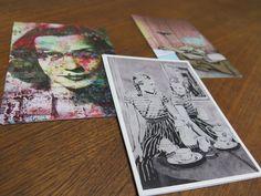 """Postkarten Holger Zimmermann, vorne: """"Twins"""" 2013, Acryl auf Bütten, 106 x 78 cm"""