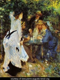 Under The Arbor At The Moulin De La Galette - Pierre Auguste Renoir - www.pierre-auguste-renoir.org