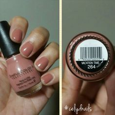 This Sinful Color polish is a staple in my Fall nail polish collection. I purchase it every year. It's a creamy rose with a brown undertone called Vacation Time. Love it #celydnails #sinfulcolors #sinfulcolorsvacationtime
