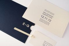letterpress + cut out invitations