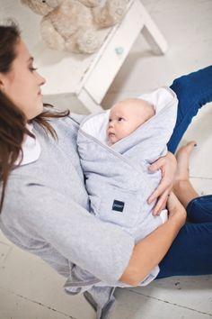 Poofi - Rożek niemowlęcy Pure - szaro-biały