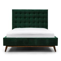 Our new gorgeous quilted Harlem bed. With an urban, contemporary design this bed would fit comfortably in any modern bedroom. Diamond Furniture, Green Bedding, Master Room, Beautiful Forest, Pink Velvet, Modern Bedroom, Contemporary Design, Bedroom Furniture, Home Accessories