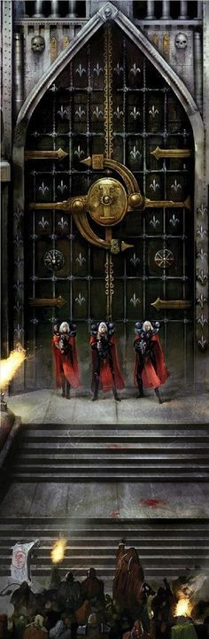 """40k - Adepta Sororitas--- """"All hail the martyrs! On their blood is our Imperium founded, in their remembrance do we honour ourselves."""""""
