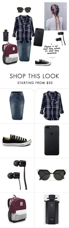 """""""School"""" by godsgirl101 ❤ liked on Polyvore featuring LE3NO, Rails, Converse, Vans, Fendi, Victoria's Secret and Gucci"""