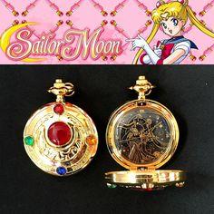 Sailor Moon pendant pocket watch Crystal Star Transformation Brooch cosplay DIY jewelry jewellery Charm sailormoon