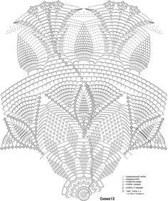 Delicadezas en crochet Gabriela: Mantel Tamaño: diámetro aprox. . 110 cm Usted necesitará: