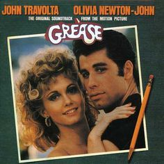 Grease: Still my fav movie/album of all time!  Ps.  If you sit this album cover upright in a chair, then walk around the room, I swear his eyes will follow you!!  weird!