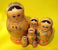 matryoshka dolls - I had this set when I was little