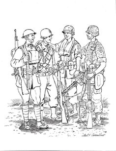 WW1 Coloring page from First Division Museum | World War ...