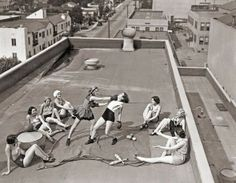 Women boxing on a roof, circa 1930's from History in Pictures on Twitter