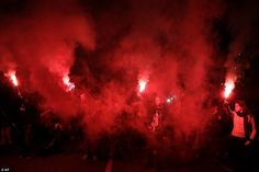 Demonstrators lit flares outside the home of Brazilian president Michel Temer in Sao Paulo, as angry protests were held across the country and more than 30 million people went on strike