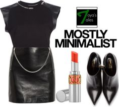 """""""Saint Laurent - Mostly Minimalist"""" by latoyacl ❤ liked on Polyvore"""