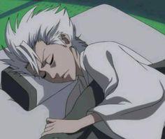 Hitsugaya sleeping, no more, no less