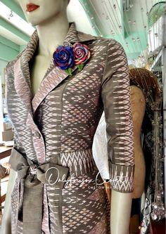 Blouse Batik, Batik Dress, Silk Dress, Asian Fashion, Women's Fashion, Thai Design, Thai Dress, Dress Designs, Designer Dresses