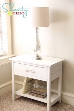 Make this night stand for CHEAP! Also, doesn't look like there are any angles, so it should be pretty easy! @Kristin Howell, I don't know about you, but I definitely want to give this a try sometime!