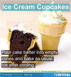 Desserts and Sweets - Ice Cream Cupcakes