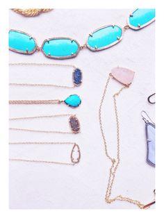 pinkandgreenlivingthedream:  Kendra Scott delicate necklaces kendra-scott
