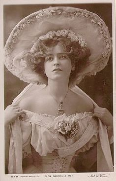The beautiful Gabrielle Ray, an English stage actress in the Edwardian period
