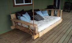 Porch Swing Bed  Queen von GODsRusticWorkshop auf Etsy, $1499.00
