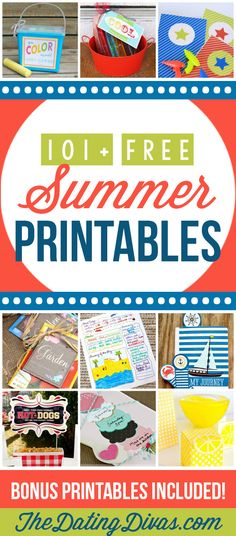 101+ Free Summer Printables