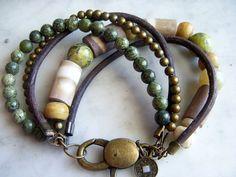 Eathy Bracelet sea urchin bracelet 5 strand by GypsysGrace on Etsy