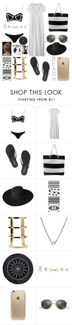 """""""Beach🍍🌴☀️"""" by noah0421 ❤ liked on Polyvore featuring South Beach, WithChic, Tkees, Dorfman Pacific, Flash Tattoos, Anita Ko, The Beach People, xO Design, Bela and Rifle Paper Co"""