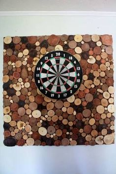 Wood Slices backdrop to dart board