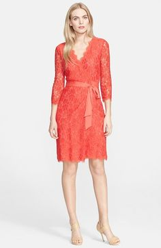 Diane+von+Furstenberg+'Julianna'+Lace+Wrap+Dress+available+at+#Nordstrom