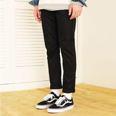 스트레이트 밴딩 코튼 팬츠 WOLP ENDER 울프엔더 [WOLP ENDER] Straight banding cotton pants(Black)