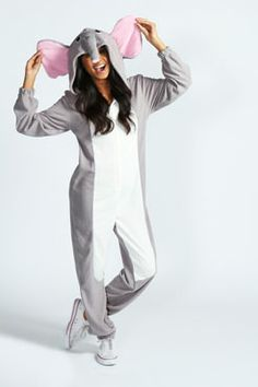Eliza Elephant Animal Onesie at boohoo.com