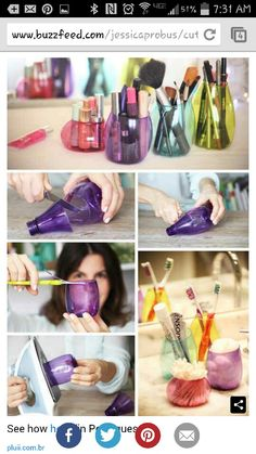 Recycled containers using empty Method soap bottles