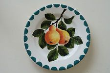 COLLECTABLE WEMYSS WARE GRISELDA HILL POTTERY PEARS PLATE 16.5cms 1980s